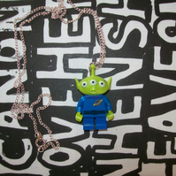 Lego Toy Story Alien Necklace