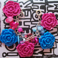 [CLEARANCE!] Blueberry & Bubblegum Flavoured Charm Bracelet