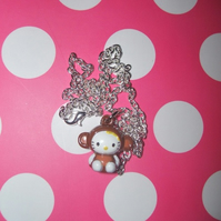 "Hello Kitty ""Monkey"" Ringing Bell Necklace"
