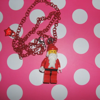 Father Christmas Lego Man Necklace