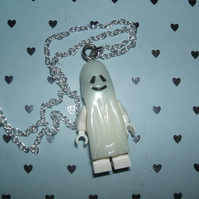 Glowing Ghostie Lego Man Necklace
