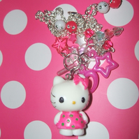 Hello Kitty Pink & White Charm Necklace