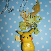 [Pokémon] Pikachu Gumball Charm Necklace