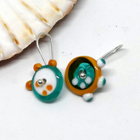 Lampwork earrings, funky earrings