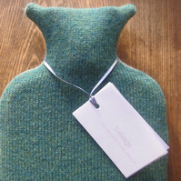 Hot Water Bottle Pure Wool Aqua