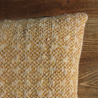 Pure Wool Cushion Fair Isle Yellow