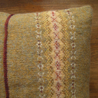 Fairisle Cushion Pure Wool Stubble