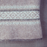 Fair Isle Blanket Pure Wool Pink