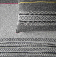 Fair Isle Cushion Pure Wool Grey