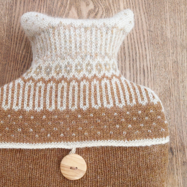 Hot water bottle pure wool Icelandic Light