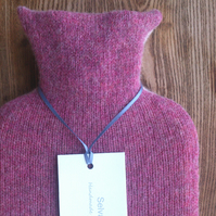 Hot water bottle Pure Wool Pink