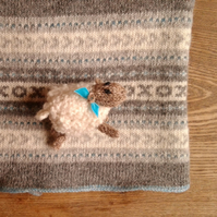 Fair Isle Wool Baby Blanket Blue