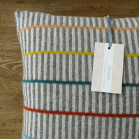 Knitted Cushion made with natural plant dyes