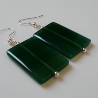 Reserved - Agate Slice earrings