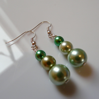 Reserved - Green with Envy Earrings