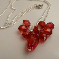 Red Cluster Necklace ***reserved**