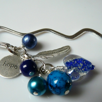 "Blue ""Hope"" Bookmark"