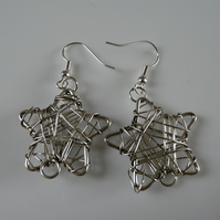 ***reserved*** Wire Star Earrings