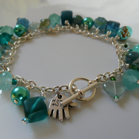 *** reserved ***Beautiful Green Charm Bracelet