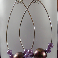 ***reserved*** Purple Chandelier Earrings