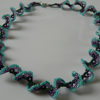 Turquoise Lace Necklace