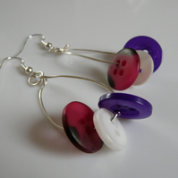 ***Reserved*** Purple Button Hoops