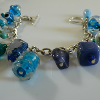 In the Blues Charm Bracelet