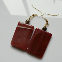 Reserved - Red Earth Earrings