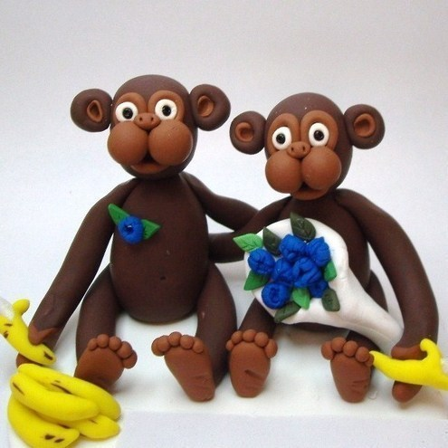 Monkey Wedding Topper