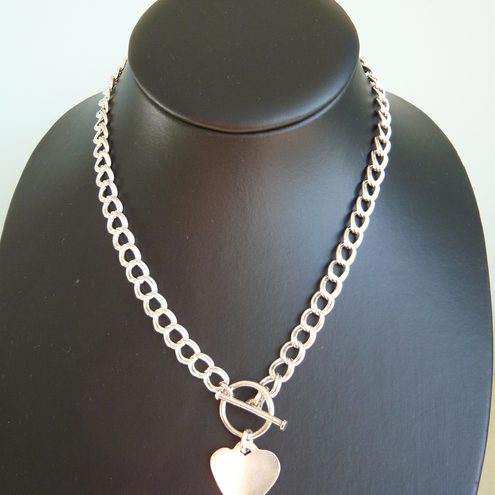 Sterling Silver Tiffany Style Double Chain Neck... - Folksy