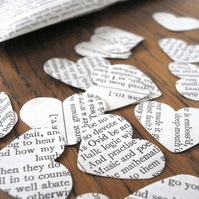 Wedding confetti - recycled Shakespeare