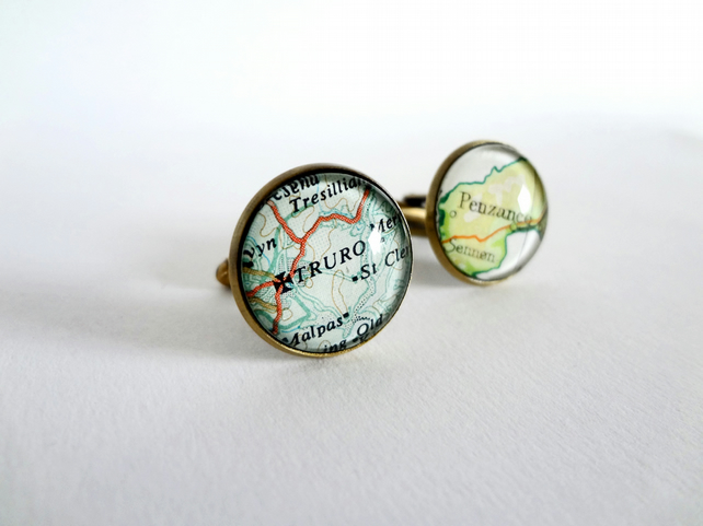 3 x personalised cufflinks for Pami  Folkestone and Santa Clara