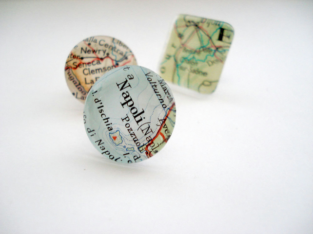 Personalised map tie pin, wedding, anniversary