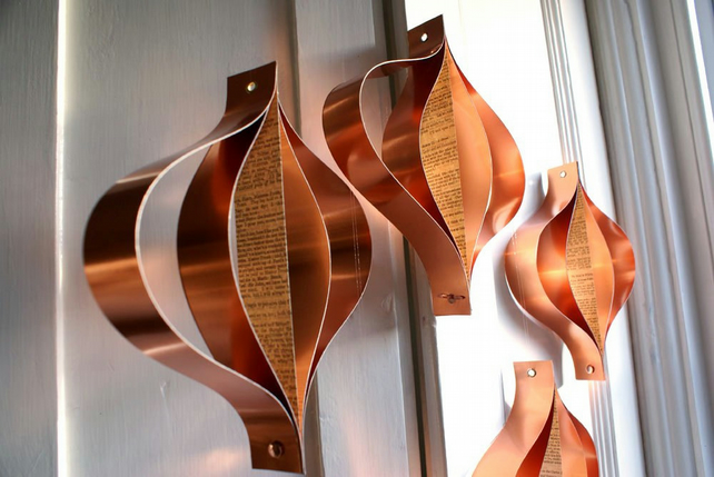 Home Decor, Copper Metallic Paper Decorations