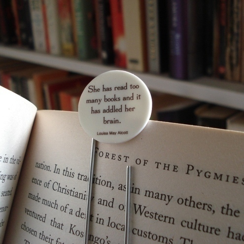 Literary quote bookmark - addled brains
