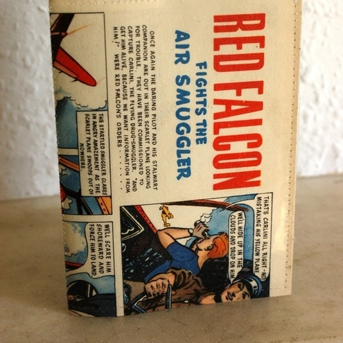 Passport holder - vintage comics