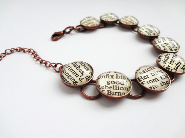 Book bracelet, Romeo and Juliet