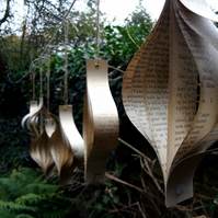 Recycled Book Decorations, Christmas Decorations, Ornaments