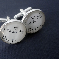 Maths Cufflinks, Clever Cufflinks