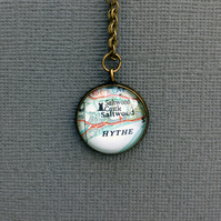 Personalised Round Map Pendant