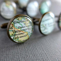 Personalised Men's Cufflinks, Gift for Best Man, Customised Maps