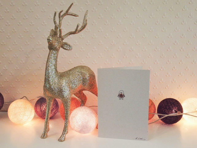 Robin - eco christmas card