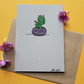 Mother's day card - cactii - recycled eco card - cactus