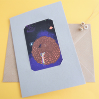 Pangolin Connection - Recycled Cotton Get Well Card with Keepsake and Sticker