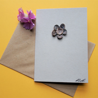 Mother's or Father's day (blank inside) keepsake, flower card