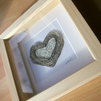 Personalised paper wedding anniversary keepsake - heart