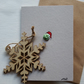 Santa Sprout Christmas Card - Recycled - Eco - Newspaper yarn