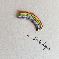Little rainbow - send a little hope - recycled get well card