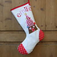 Personalised Gingerbread House Christmas Stocking