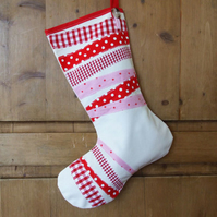 Red Striped Christmas Stocking